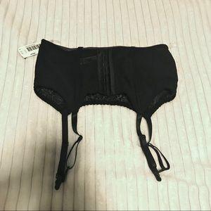 NWT Medium black lace garter belt